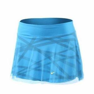 Nike Maria Sharapova Blue Mesh Skirt
